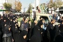 پیکر دو شهید دفاع مقدس در کرج تشییع شد