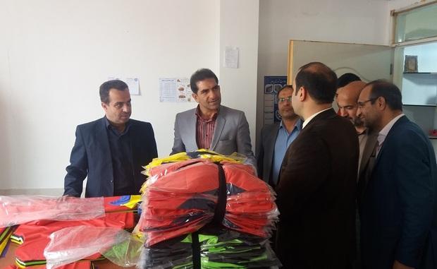 کارگاه تولیدی پوشاک ورزشی در ملایر بهره برداری شد