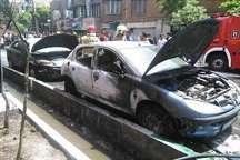 جزئیات جدید از آتشسوزی زنجیرهای خودروها در خیابان پلیس تهران