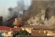 مسجد جامع ساری آتش گرفت