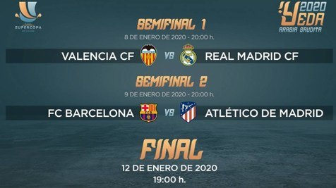 تاریخ بازیهای دوره جدید سوپرجام اسپانیا مشخص شد