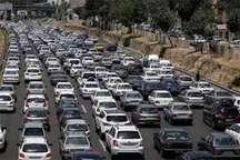 ترافیک سنگین دربزرگراه تهران-کرج- قزوین