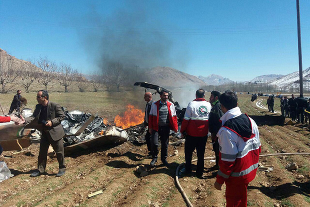 5 کشته درپی حادثه سقوط بالگرد در چهارمحال و بختیاری