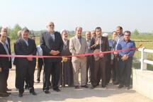 بهره برداری از یک دهنه پل و 7 طرح برق رسانی در آستانه اشرفیه