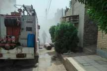 آتش سوزی در انبار موکت در منطقه کمپلو اهواز مهار شد