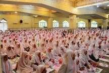 دو رکعت نماز شکرانه در جشن تکلیف هزار دانش آموز انزلی