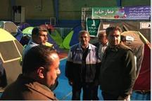 نماینده ویژه میراث فرهنگی از اسکان اضطراری مسافران در شیراز بازدید کرد