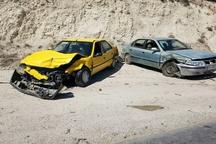 9 مصدوم درحادثه برخورد دو خودروی سواری در محور کیاسر