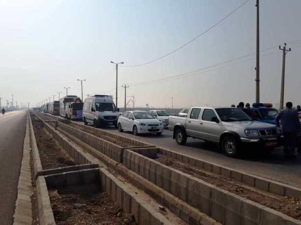 استقرار امکانات امدادی و خدماتی در مرز شلمچه آغاز شد