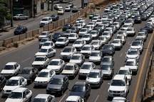 ترافیک درجاده کرج- چالوس سنگین است