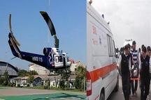 آمادگی بیمارستان های مازندران برای پذیرش مصدومان زلزله غرب کشور  اعزام بالگرد اورژانس مازندران به منطقه زلزله زده غرب کشور