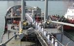 پس از ۲۵ روز دریانوردی، ناوگروه نیروی دریایی ارتش در بندر «کلمبو» پهلو گرفت