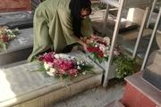 حضور خانم سفیر بولیوی در بهشت زهرا و تقدیم گل به شهدا + عکس