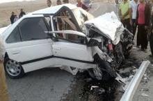 انحراف به چپ سواری پژو 405 جان راننده را گرفت