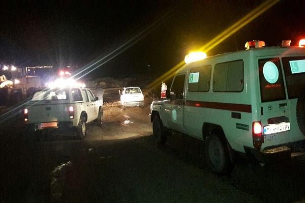 سیلاب به جاده روستای اسماعیلان در انارک آسیب زد