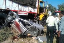 تصادف زنجیره ای در همدان یک کشته بر جا گذاشت