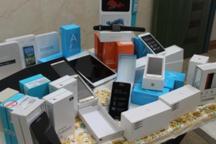 100 دستگاه تلفن همراه قاچاق در بیجار کشف شد