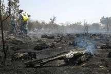 2.5 هکتار از اراضی مرتعی آشوراده درآتش سوخت
