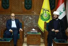 دیدار سفیر ایران در عراق با دبیر کل جنبش نجباء در بغداد