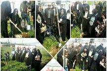 مادران شهدای گلستان به نام فرزندان خود نهال غرس کردند