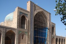 مرحله دوم ساماندهی و مرمت ایوان جنوبی مسجد جامع عتیق قزوین آغاز شد
