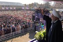 استقبال مردم از رئیس جمهوری پیام های مثبتی دارد
