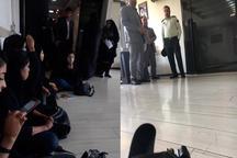 وزیر آموزش و پرورش دختران سوخته را راه نداد/ نیروی انتظامی بیرونشان کرد+ عکس