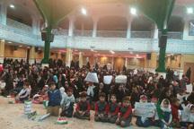 کودکان زنجانی درحمایت از کودکان مظلوم یمن تجمع کردند