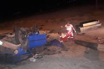 واژگونی نیسان در قوچان جان راننده را گرفت