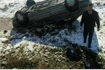 خودروی امام جمعه نهاوند واژگون شد