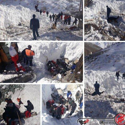 کشف پیکر جوان افغانی که زیر برفهای کرج مدفون شده بود + عکس