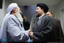 دیدار مولانا عبدالحمید با سید حسن خمینی در جماران