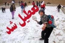 سرما و یخبندان مدارس دماوند و رودهن را تعطیل کرد