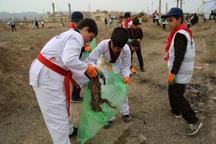 پاکسازی طبیعت اشتهارد از زباله ها