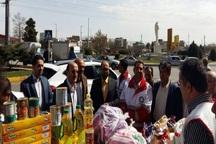 استاندار قزوین از ایستگاه های کمک به سیل زدگان بازدید کرد