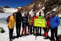 صعود کوهنوردان بندر امامی به قله سبلان