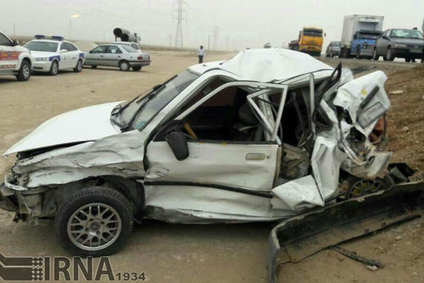 حادثه رانندگی در مسیر اراک - ازنا ۲ کشته و ۶ مجروح داشت