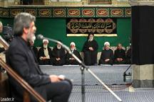 مراسم عزاداری شام شهادت حضرت فاطمه زهرا(س) در حسینیه امام خمینی برگزار شد