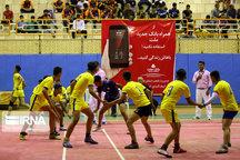 تیم کبدی پسران فارس هم در مرحله نیمه نهایی رقابت های کشور حذف شد
