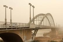 گرد و غبار محلی برخی نقاط خوزستان را فرا می گیرد