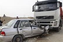تصادف 4 دستگاه خودرو در محور ارومیه - تبریز راه را مسدود کرد