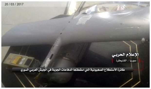 ارتش سوریه یک هواپیمای شناسایی اسرائیلی را سرنگون کرد