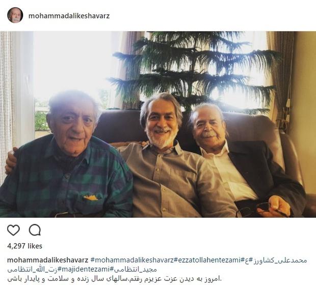 دیدار دوستانه محمدعلی کشاورز و عزتالله انتظامی+ عکس