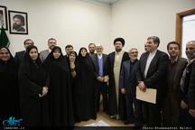 دیدار رئیس و اعضای فراکسیون امید با یادگار امام
