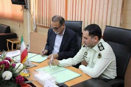 اداره کل تعاون و کار هرمزگان و نیروی انتظامی تفاهم نامه همکاری امضا کردند