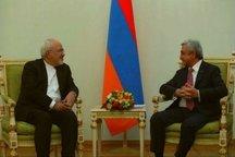 ظریف با رییسجمهور ارمنستان دیدار کرد