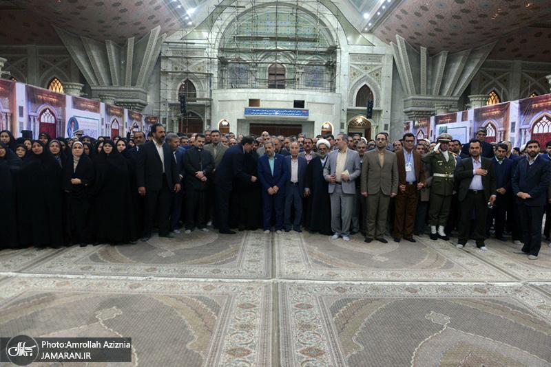 تجدید میثاق مدیر کل و کارکنان آموزش و پرورش شهر تهران با آرمان های حضرت امام(س)