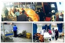 واژگونی اتوبوس حامل دانشآموزان در داراب  حال 13 نفر وخیم است