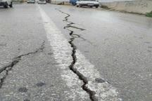 جاده ساحلی اهواز به طول30 متر شکاف برداشت
