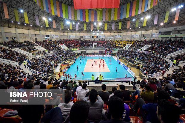 مسابقات لیگ ملت های والیبال جهان از تلویزیون های بزرگ شهری ارومیه پخش می شود